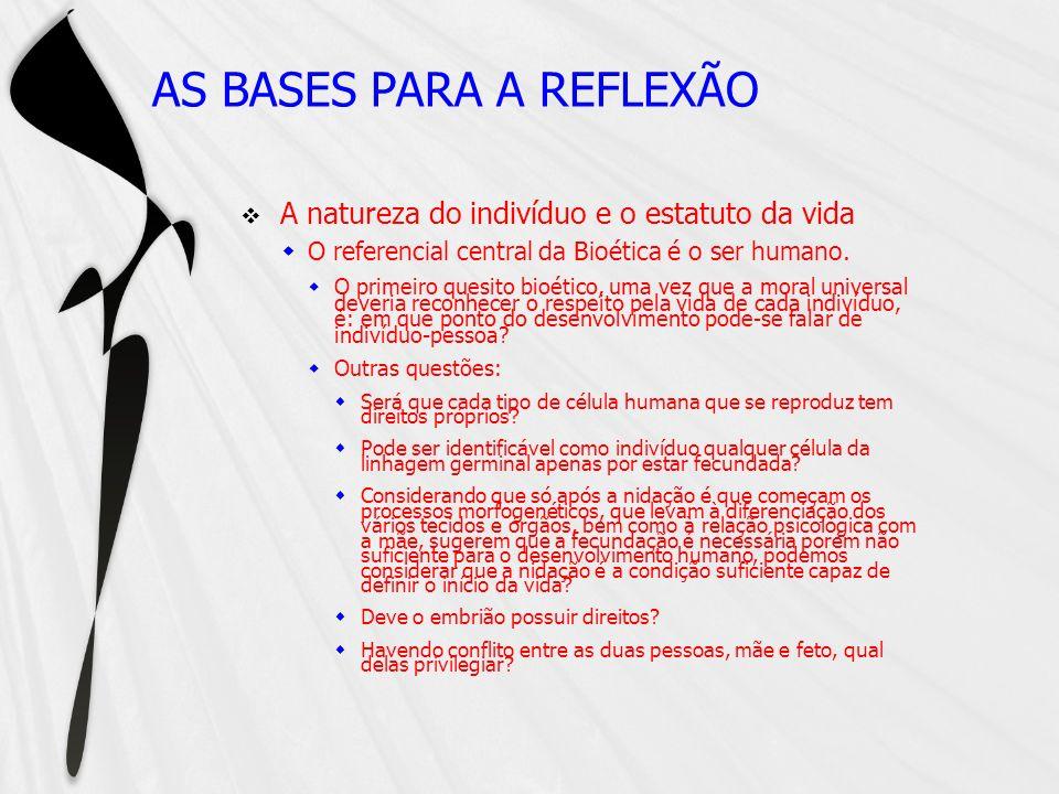 AS BASES PARA A REFLEXÃO