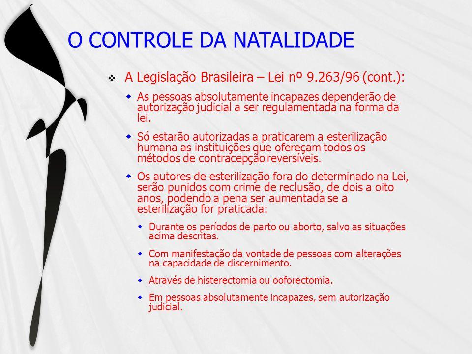 O CONTROLE DA NATALIDADE