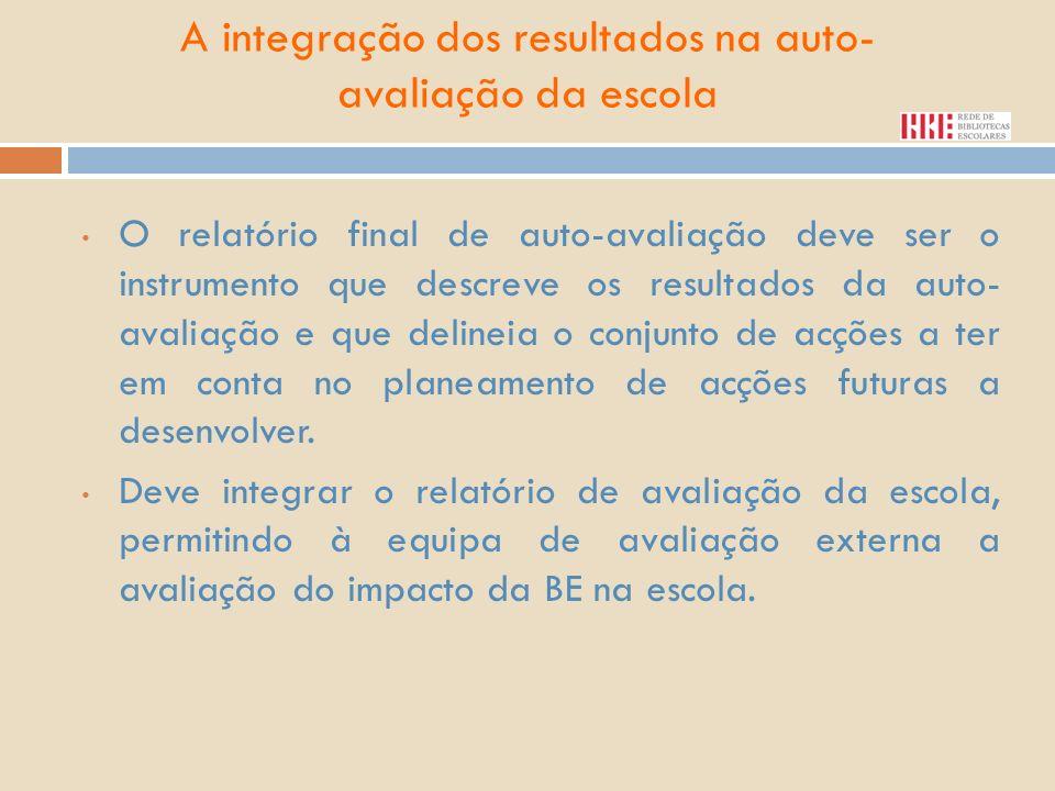 A integração dos resultados na auto-avaliação da escola