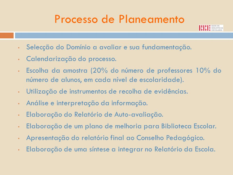 Processo de Planeamento