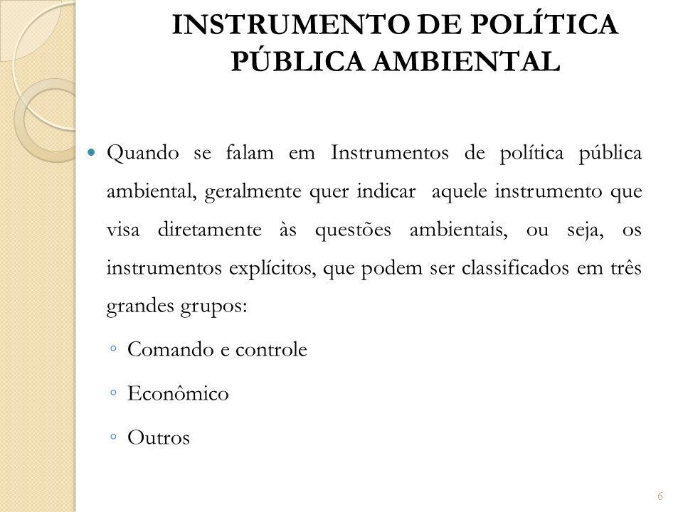 INSTRUMENTO DE POLÍTICA PÚBLICA AMBIENTAL