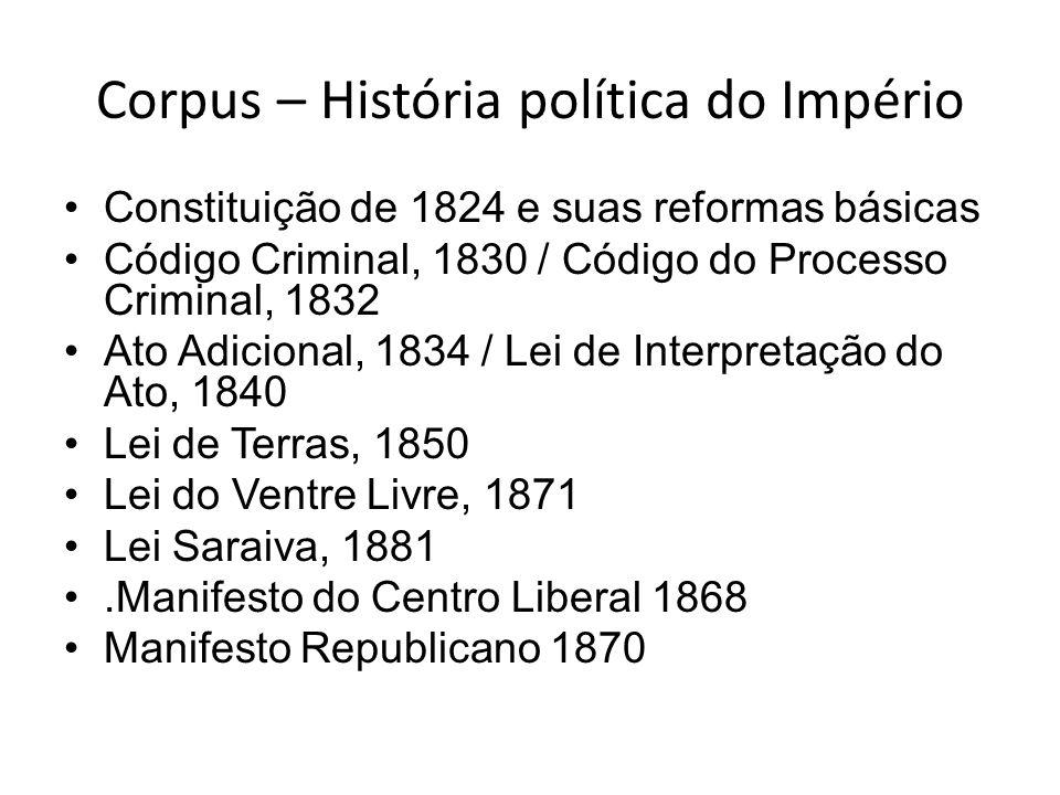 Corpus – História política do Império