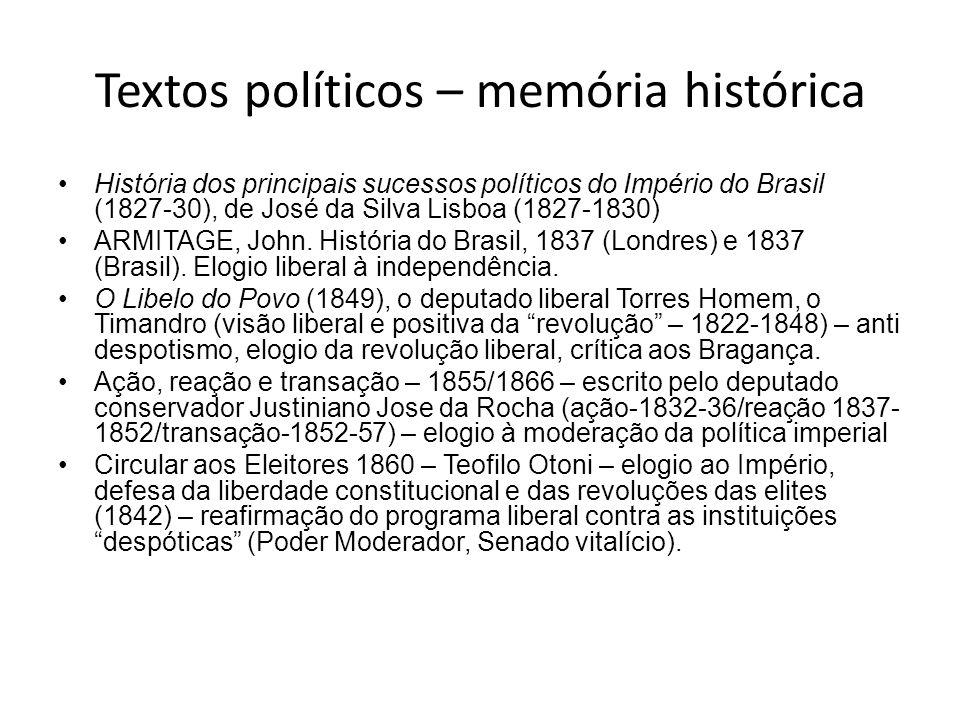 Textos políticos – memória histórica