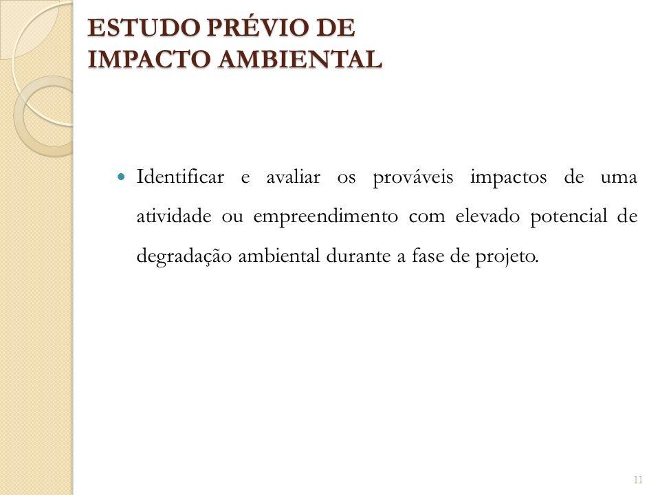 ESTUDO PRÉVIO DE IMPACTO AMBIENTAL