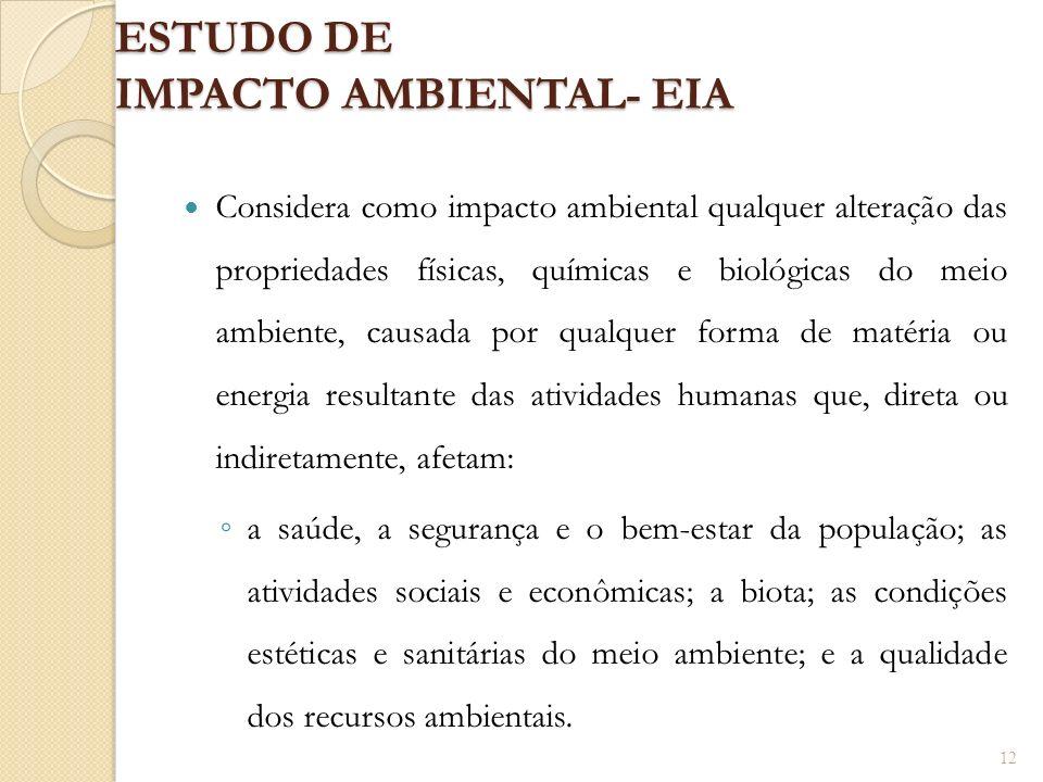 ESTUDO DE IMPACTO AMBIENTAL- EIA
