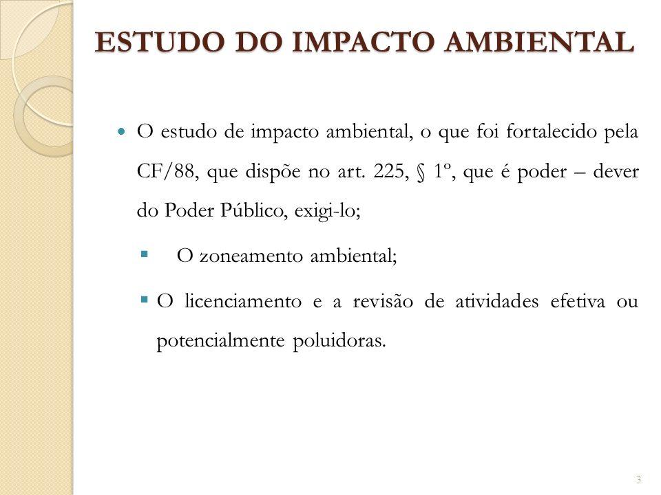 ESTUDO DO IMPACTO AMBIENTAL
