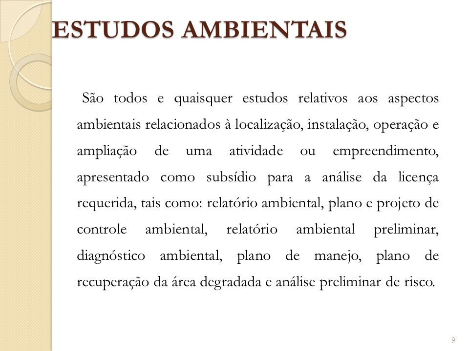 ESTUDOS AMBIENTAIS