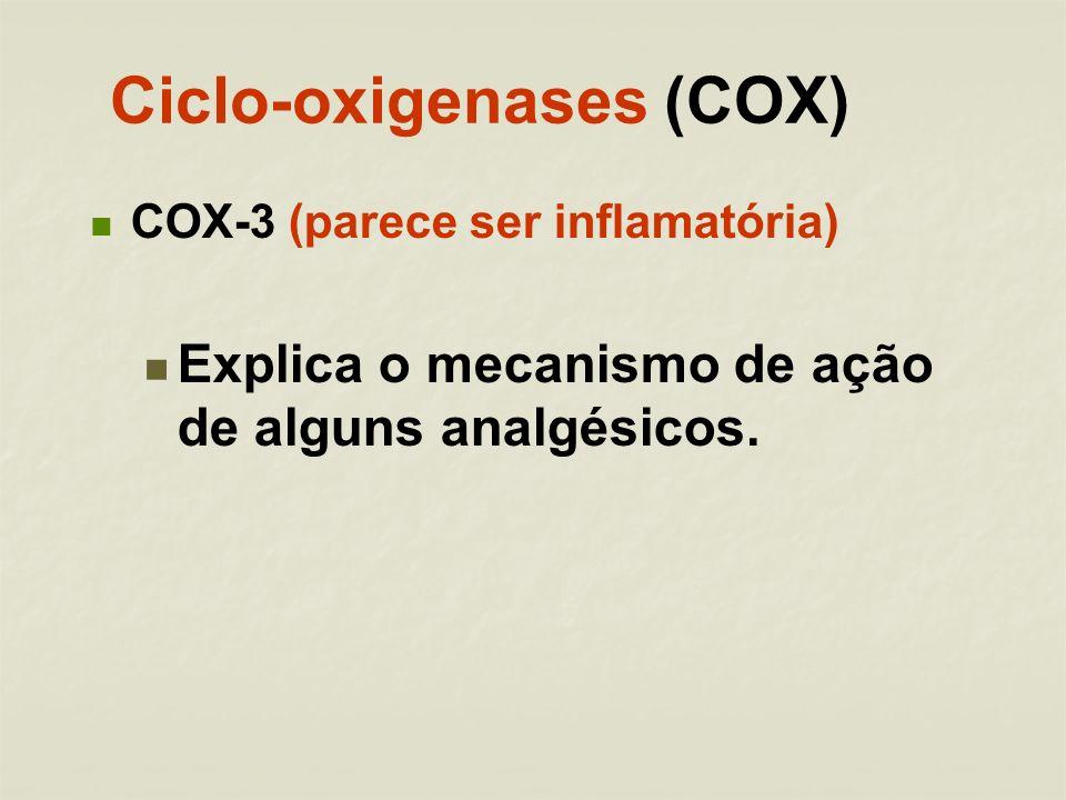 Ciclo-oxigenases (COX)