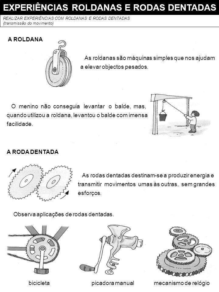 EXPERIÊNCIAS ROLDANAS E RODAS DENTADAS