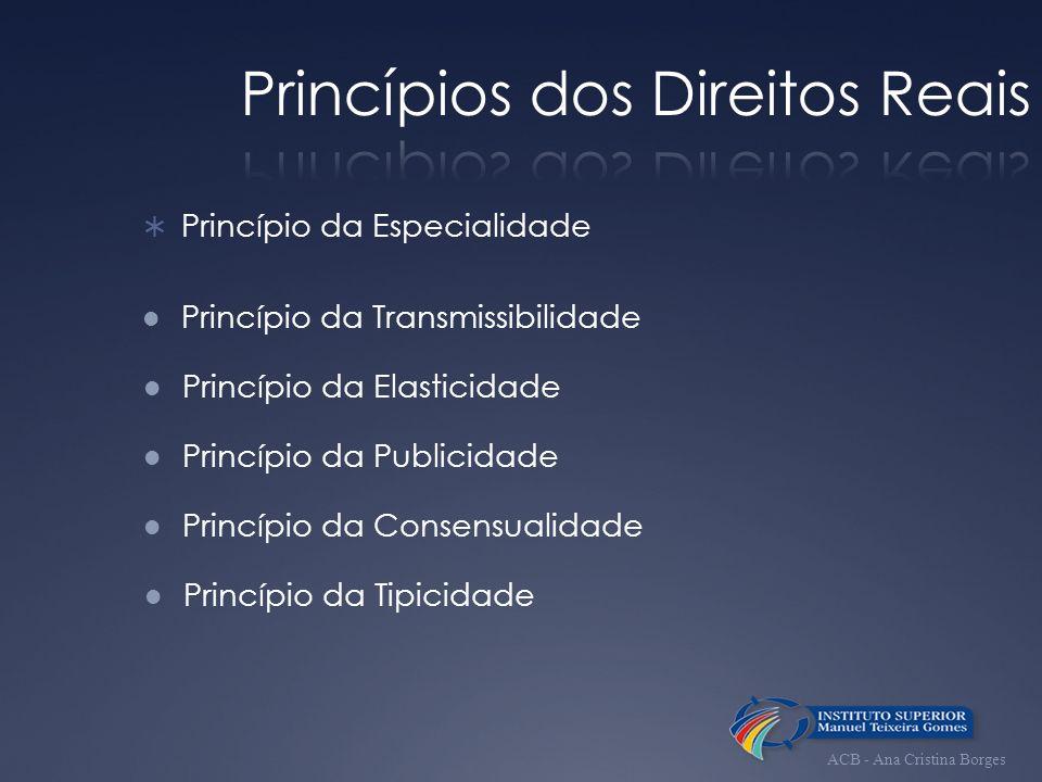 Princípios dos Direitos Reais