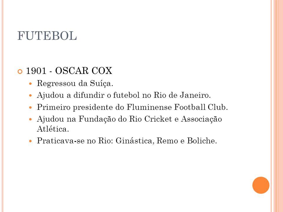 FUTEBOL 1901 - OSCAR COX Regressou da Suíça.