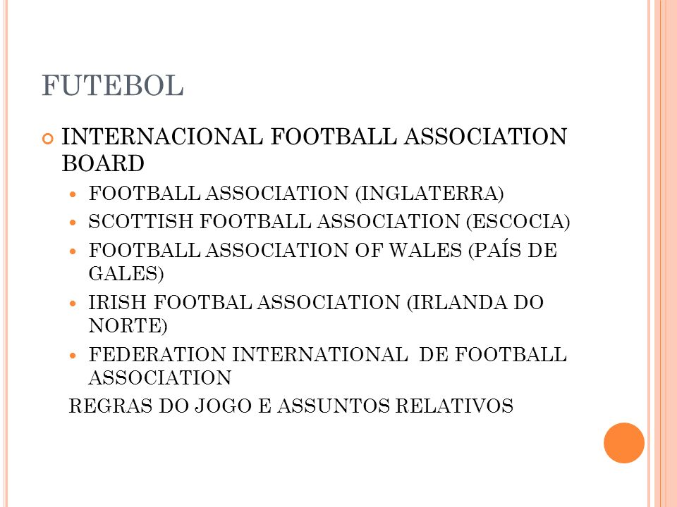 FUTEBOL INTERNACIONAL FOOTBALL ASSOCIATION BOARD