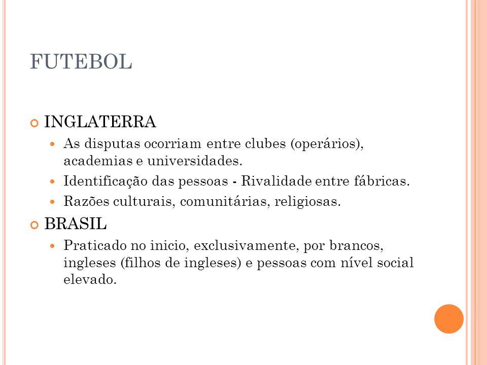 FUTEBOL INGLATERRA BRASIL