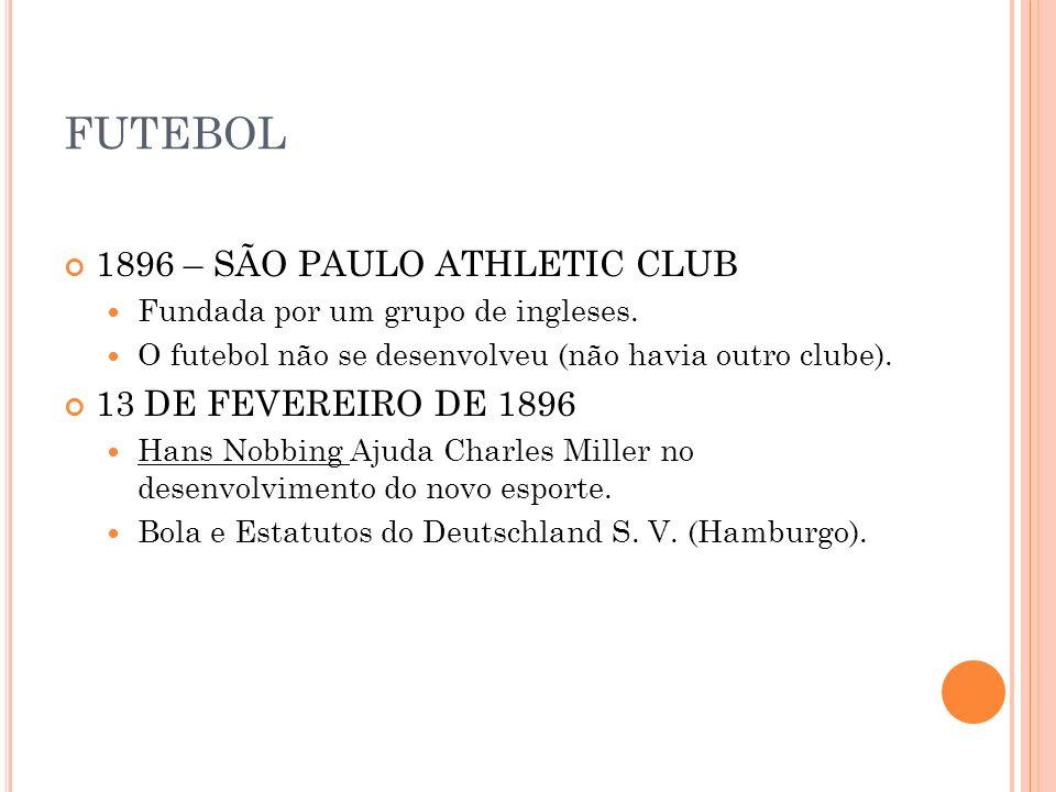 FUTEBOL 1896 – SÃO PAULO ATHLETIC CLUB 13 DE FEVEREIRO DE 1896