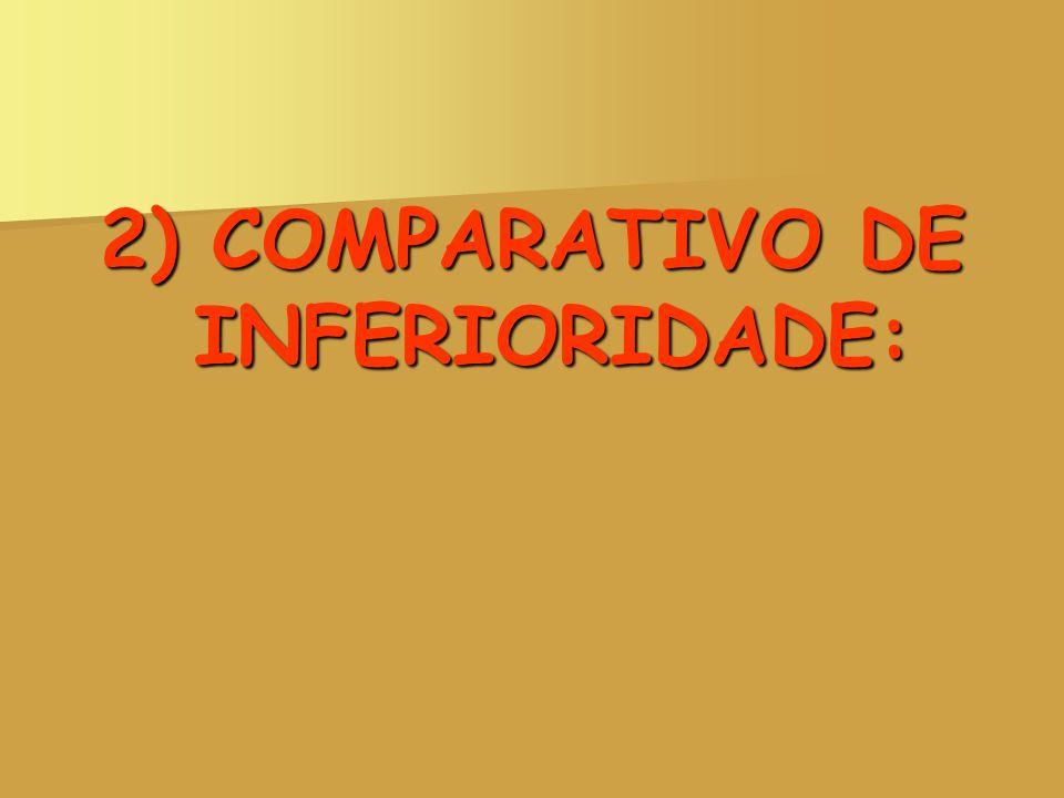 2) COMPARATIVO DE INFERIORIDADE: