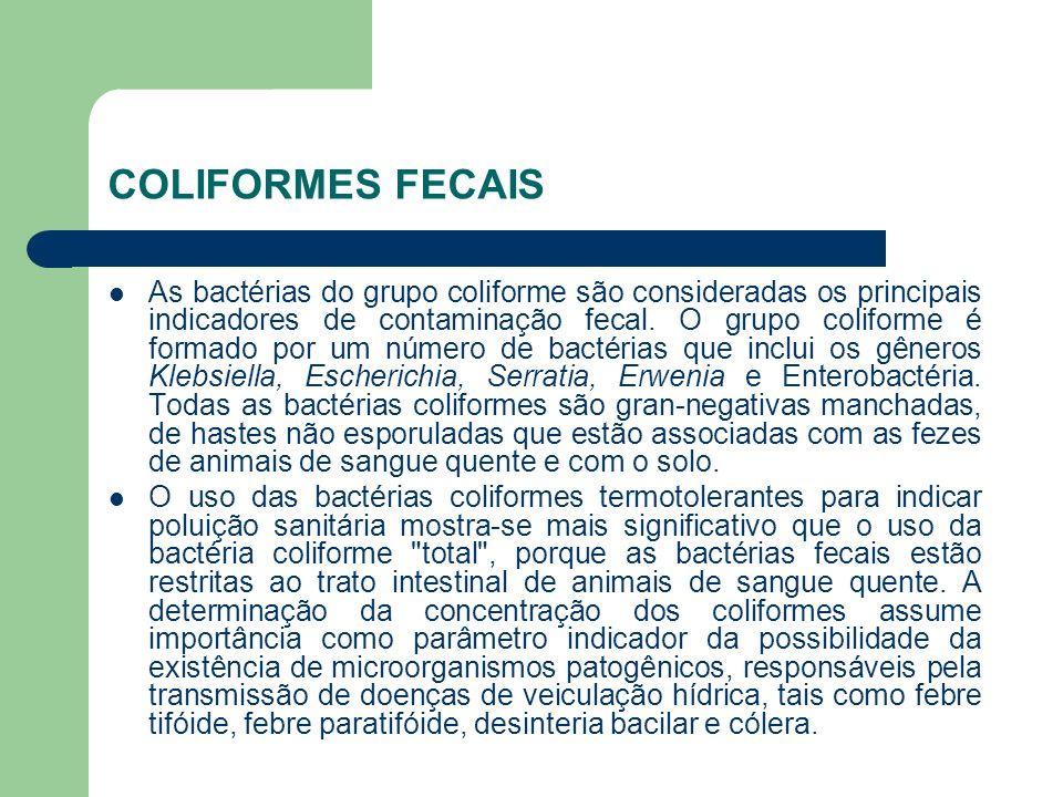 COLIFORMES FECAIS