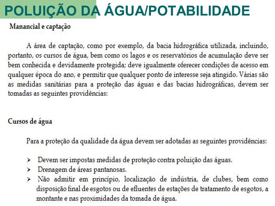 POLUIÇÃO DA ÁGUA/POTABILIDADE