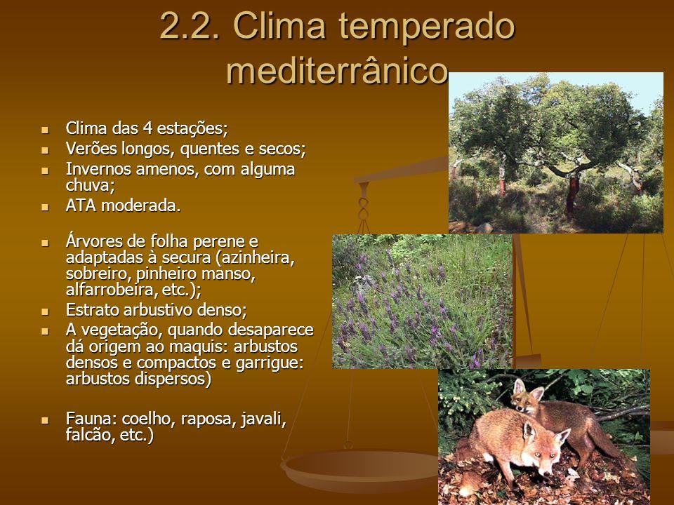 2.2. Clima temperado mediterrânico