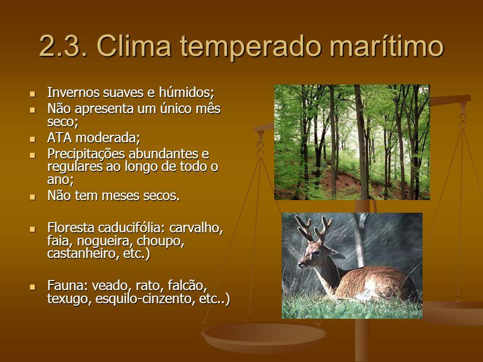 2.3. Clima temperado marítimo