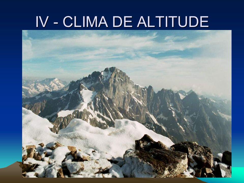 IV - CLIMA DE ALTITUDE