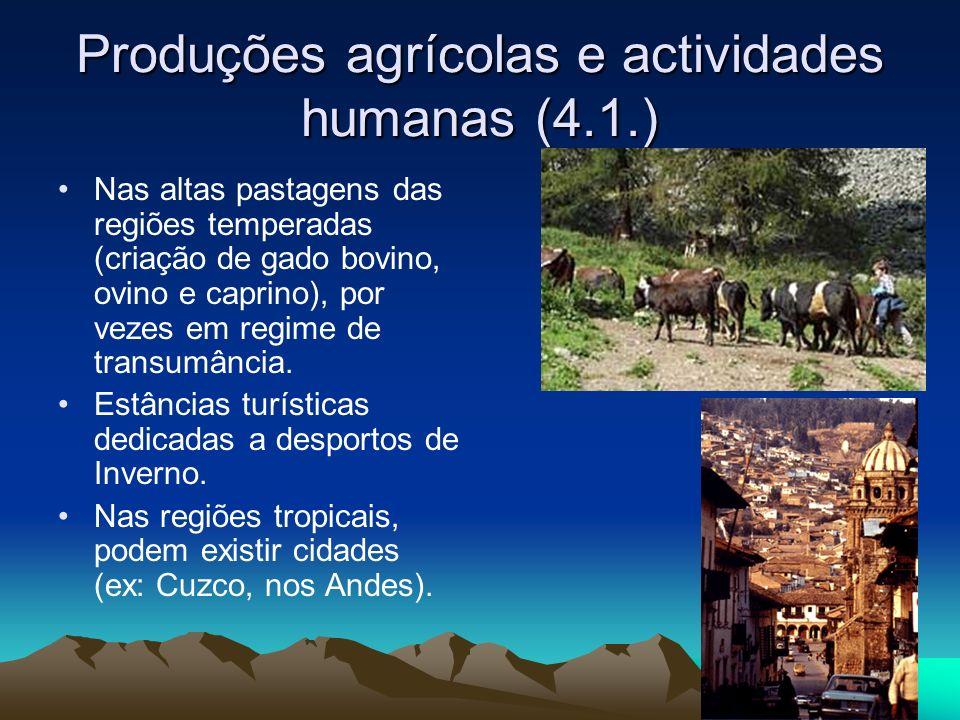 Produções agrícolas e actividades humanas (4.1.)