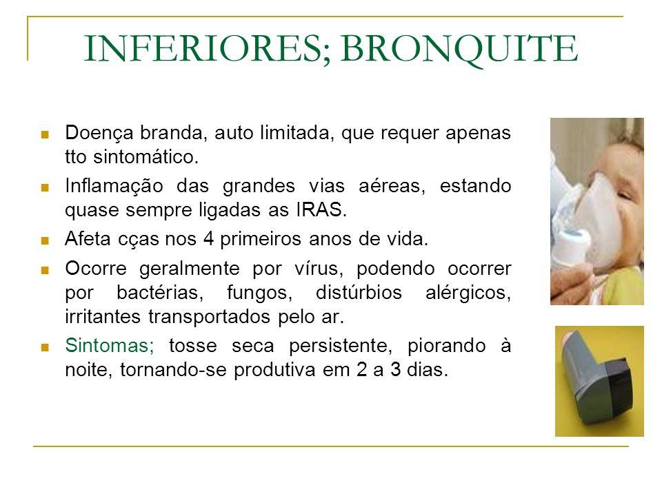 INFERIORES; BRONQUITE