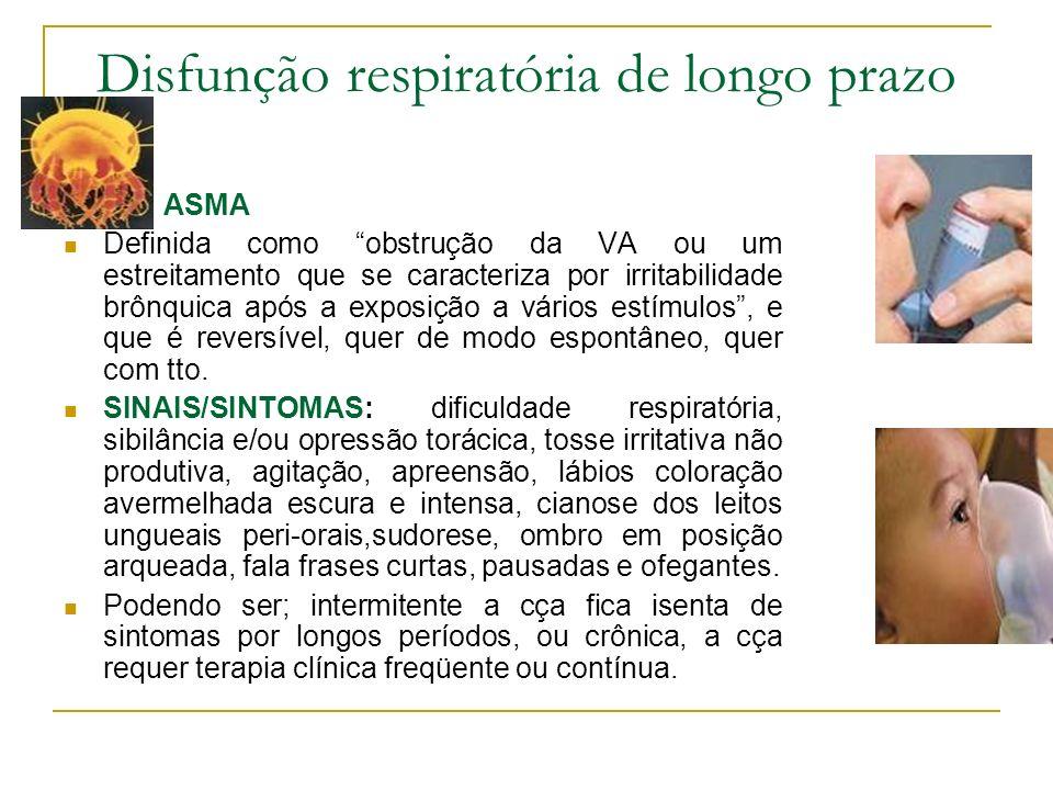 Disfunção respiratória de longo prazo