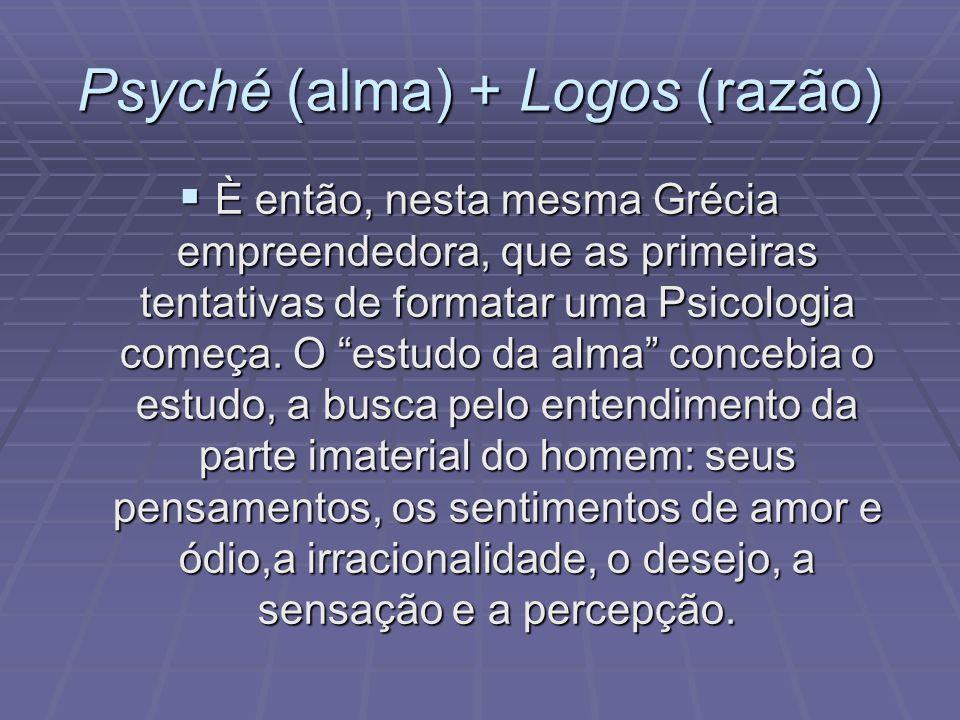 Psyché (alma) + Logos (razão)