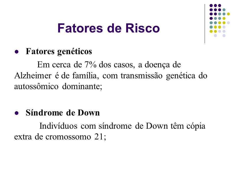 Fatores de Risco Fatores genéticos