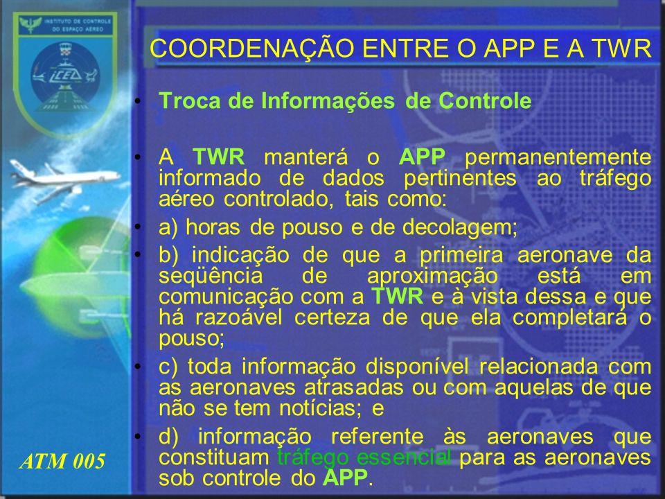 COORDENAÇÃO ENTRE O APP E A TWR