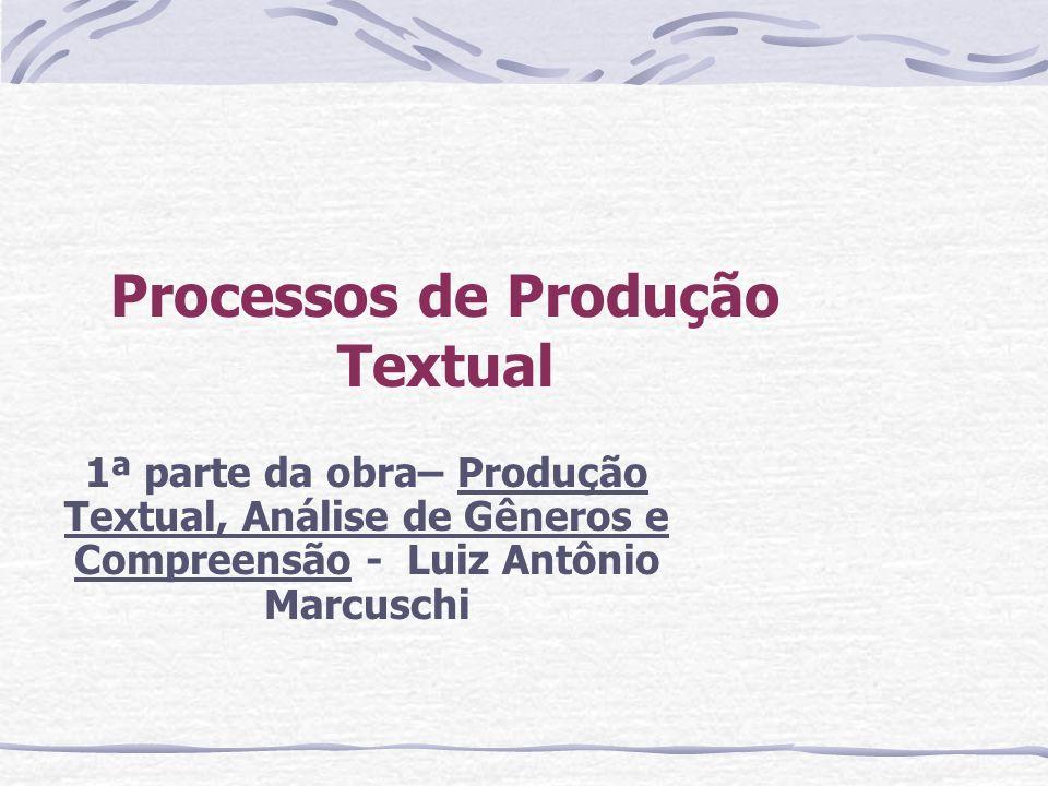 Processos de Produção Textual