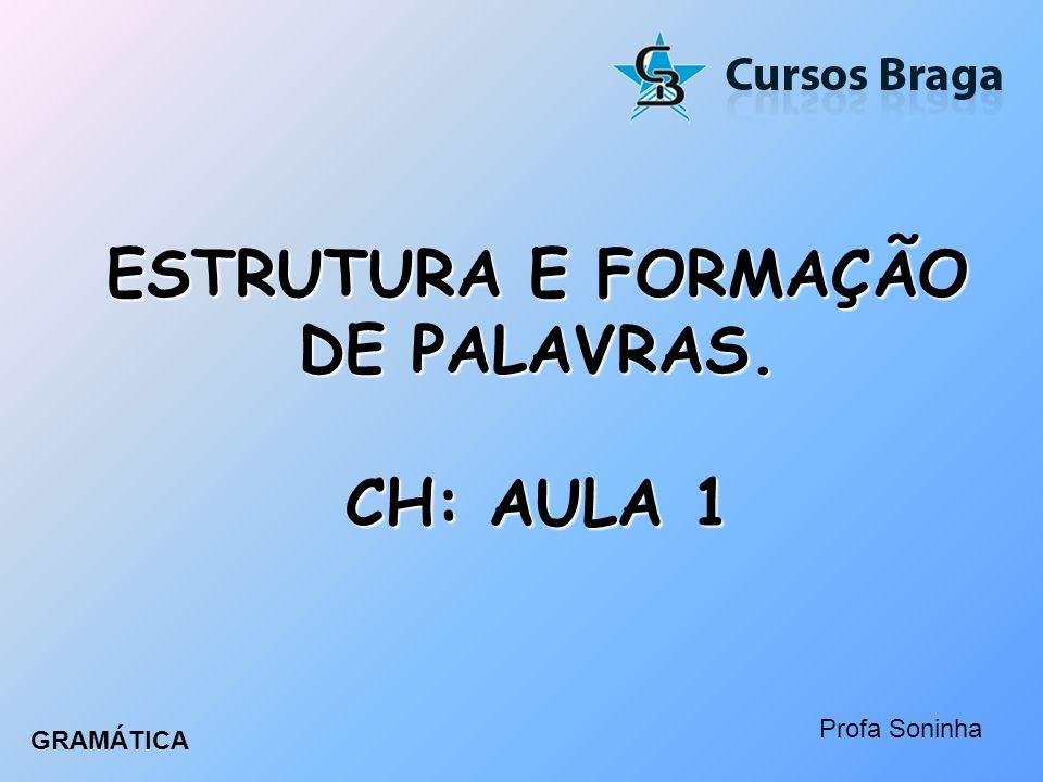 ESTRUTURA E FORMAÇÃO DE PALAVRAS. CH: AULA 1
