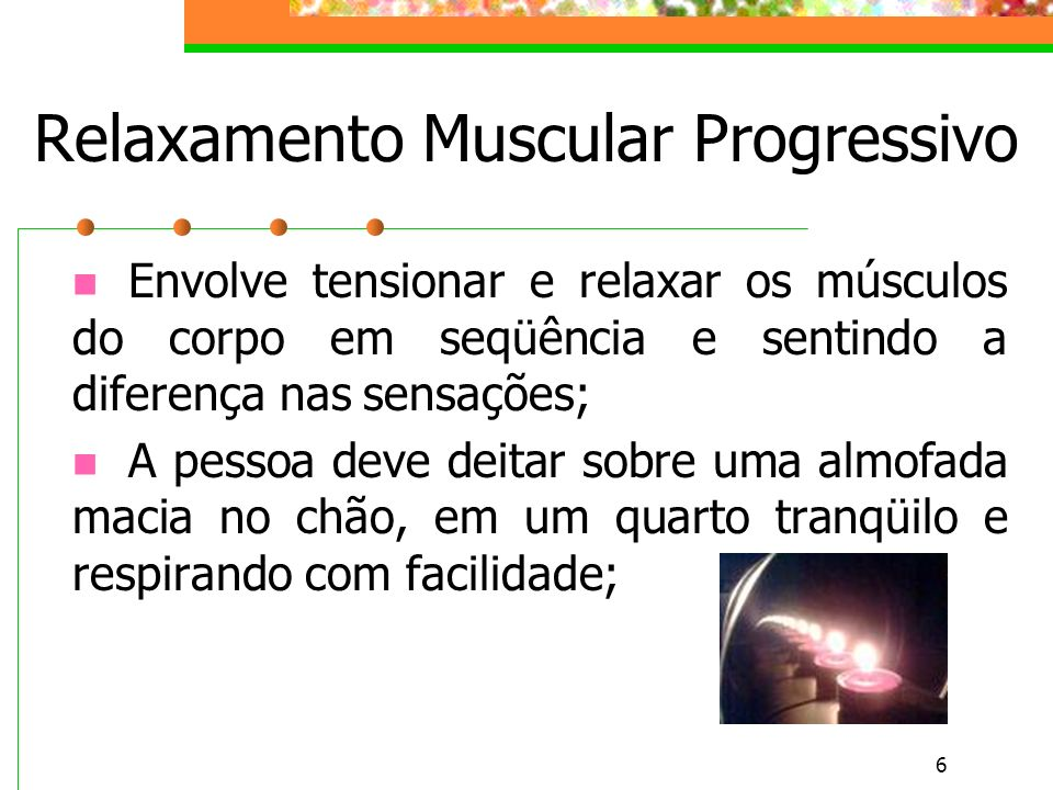 Relaxamento Muscular Progressivo