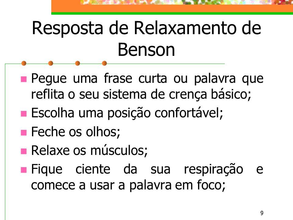 Resposta de Relaxamento de Benson