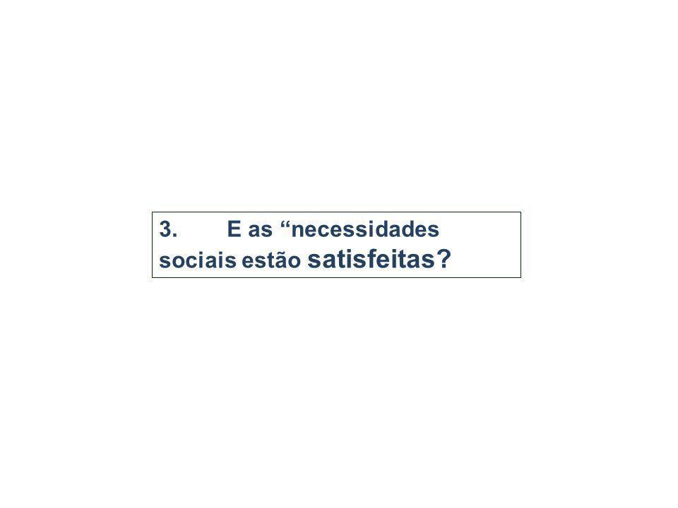 3. E as necessidades sociais estão satisfeitas