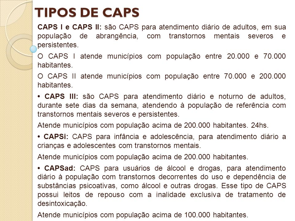 TIPOS DE CAPS