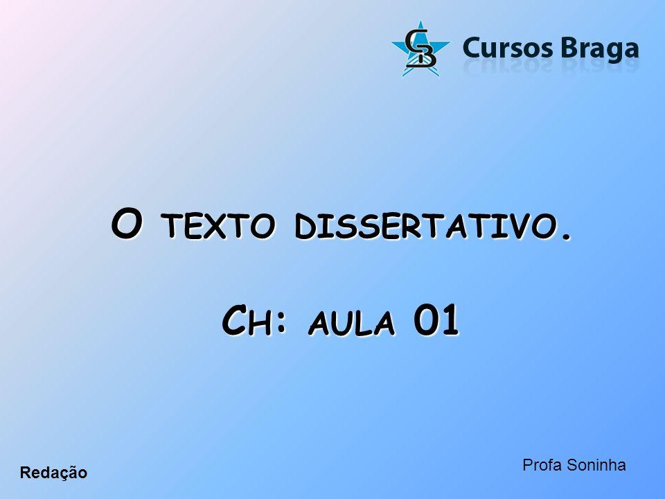 O texto dissertativo. Ch: aula 01
