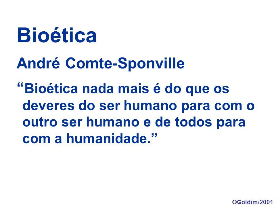 Bioética André Comte-Sponville