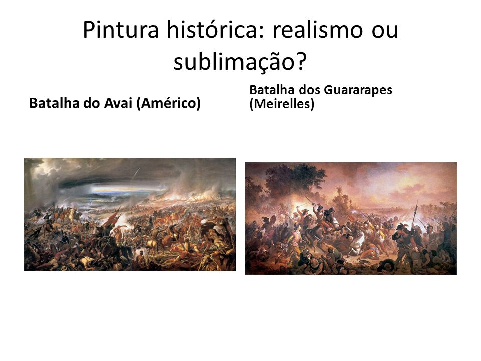 Pintura histórica: realismo ou sublimação