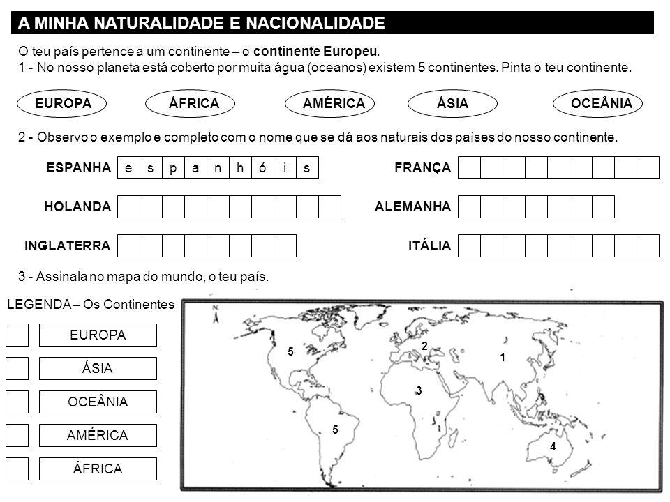 A MINHA NATURALIDADE E NACIONALIDADE
