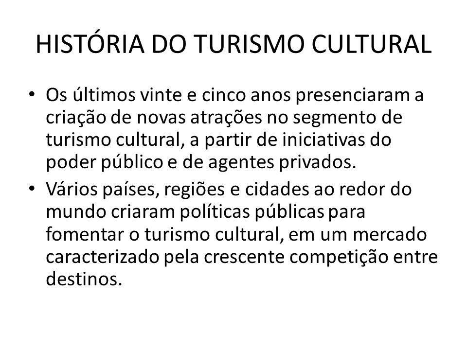 HISTÓRIA DO TURISMO CULTURAL