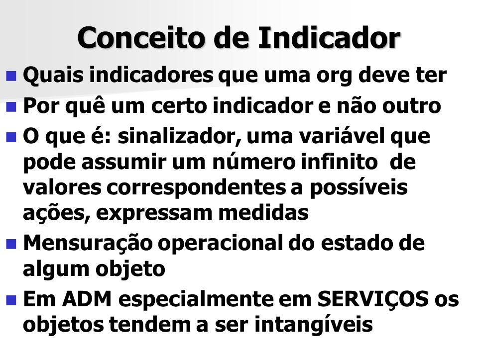 Conceito de Indicador Quais indicadores que uma org deve ter