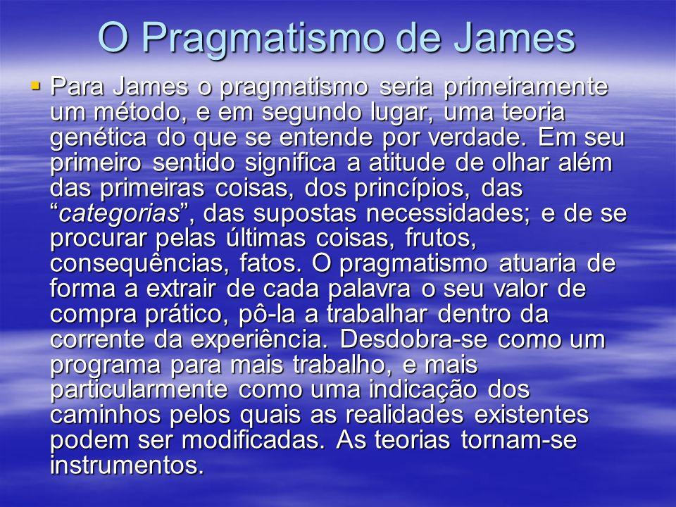 O Pragmatismo de James