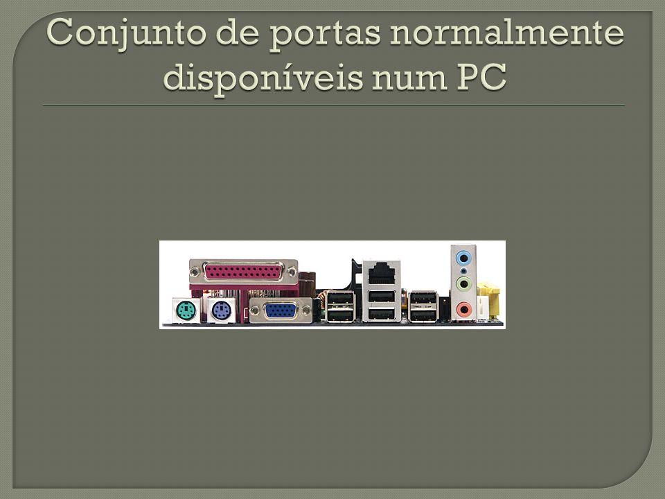 Conjunto de portas normalmente disponíveis num PC
