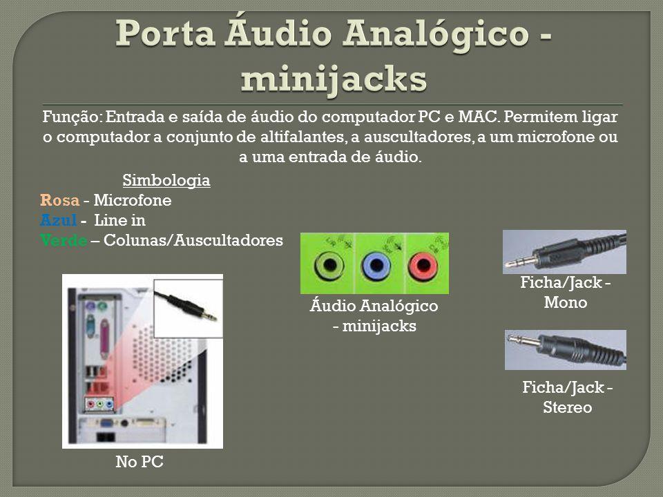 Porta Áudio Analógico - minijacks