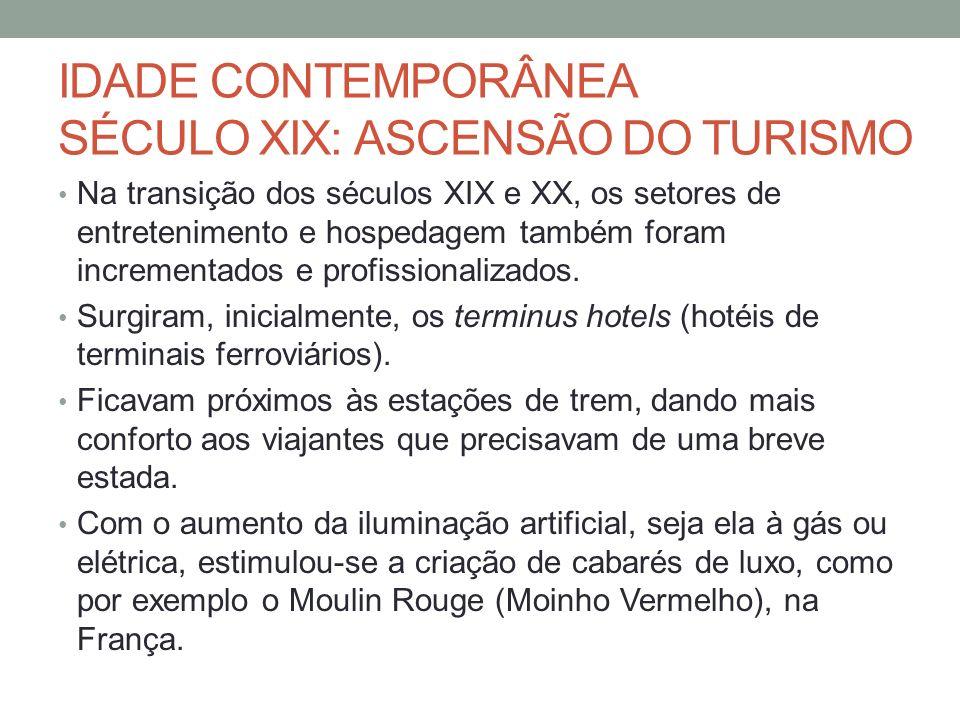 IDADE CONTEMPORÂNEA SÉCULO XIX: ASCENSÃO DO TURISMO