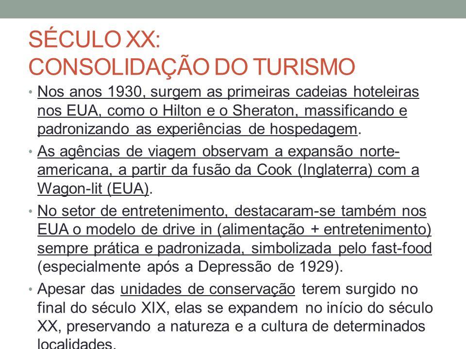 SÉCULO XX: CONSOLIDAÇÃO DO TURISMO