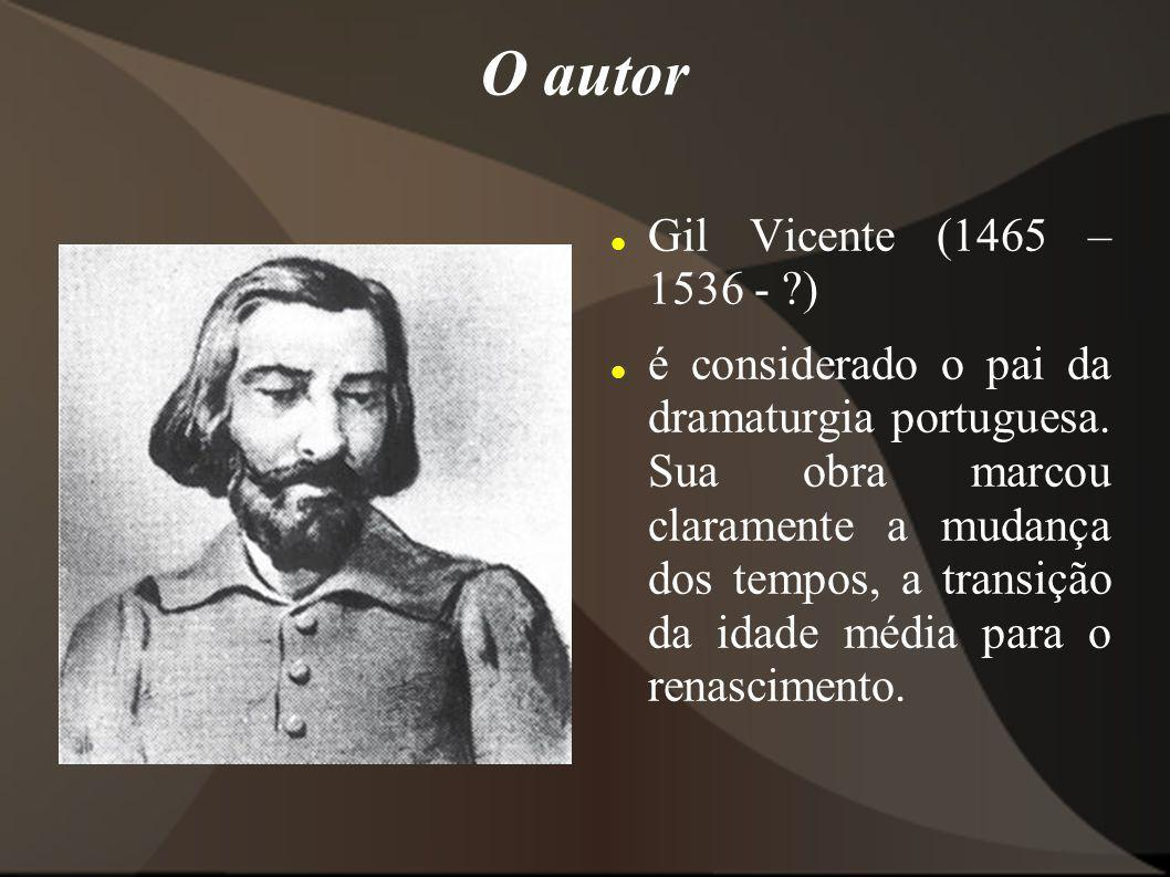 O autor Gil Vicente (1465 – 1536 - )
