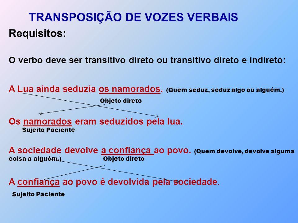 TRANSPOSIÇÃO DE VOZES VERBAIS