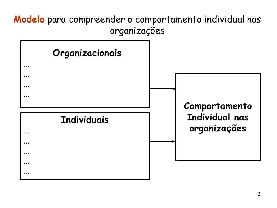 Comportamento Individual nas organizações